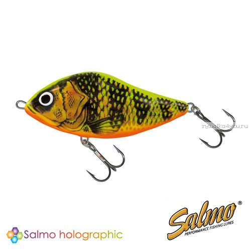 Воблер Salmo SLIDER F 60 цвет GFP / до 0,5 м