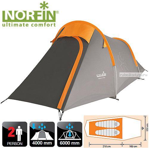 Палатка алюминиевые дуги 2-х местная Norfin ROXEN 2 ALU NS