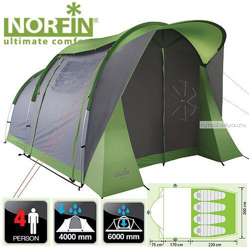 Палатка алюминиевые дуги 4-х местная Norfin ASP 4 ALU NF