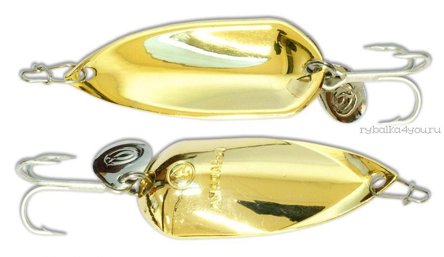 Блесна Kosadaka Grav Spoon 60мм /  21 грамм /  Gold