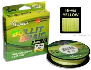 Шнур ALLVEGA BULLIT BRAID 135m (Жёлтый))