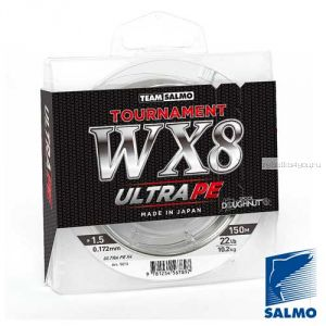 Леска плетеная Team Salmo Tournament Silver Gray WX8 (150м)