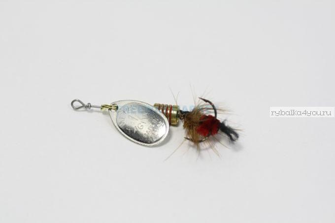 Блесна Mepps Aglia Mouche AR/RG (серебро/красный) №1 (3,5 гр)