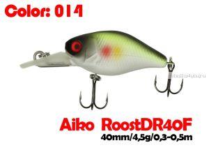Воблер Aiko Roost cnk DR 40F  40 мм/ 4,5 гр / 0,3 - 0,5 м / цвет - 014