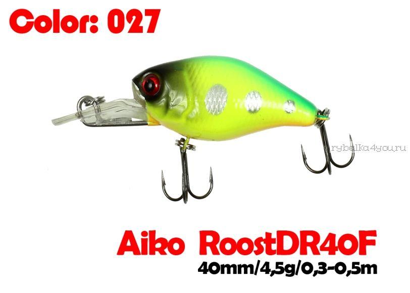 Воблер Aiko Roost cnk DR 40F  40 мм/ 4,5 гр / 0,3 - 0,5 м / цвет - 027