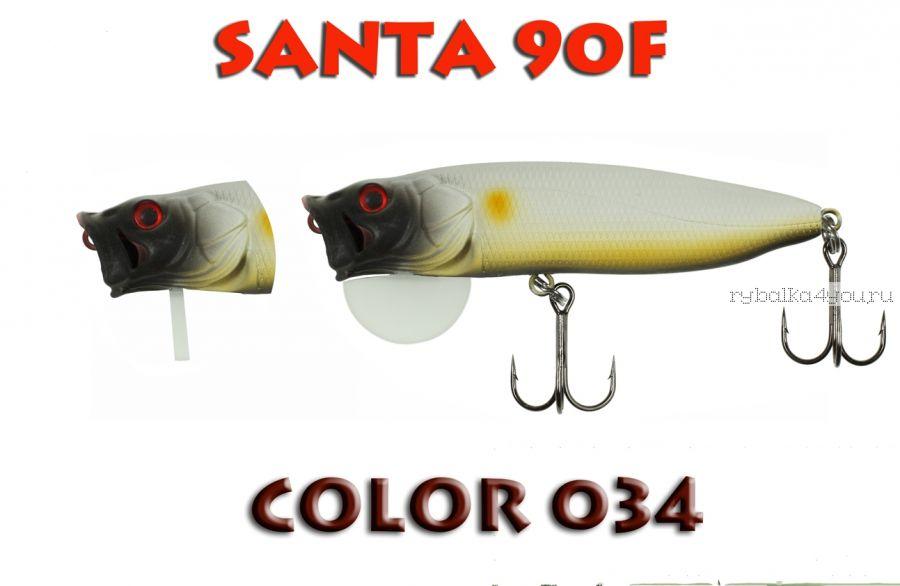 Воблер Aiko SANTA 90F  90 мм/ 16 гр / поверхностный / цвет - 034