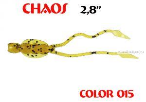 Мягкая приманка Aiko  Chaos 2.8 70мм / запах рыбы / цвет -015Motor Oil  (упаковка 8шт)