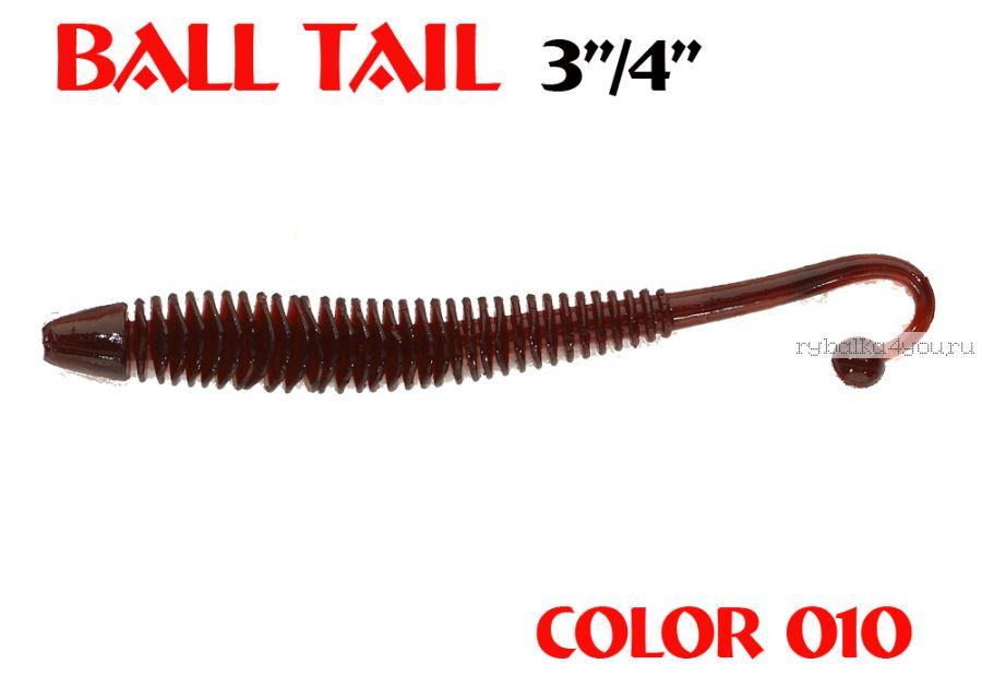 Слаг Aiko - Balltail 75mm / цвет 010 / 8шт / Запах Рыба