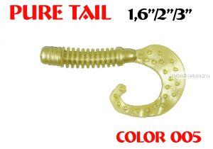 """Твистеры Aiko  Pure tail 1.6"""" 40 мм / 0,57 гр / запах рыбы / цвет - 005 (упаковка 12 шт)"""