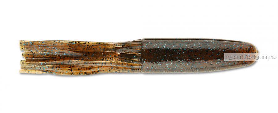 "Слаг Keitech Salty Core Tube 4,25"" 10,9 см / 14 гр / цвет - 207 Green Pumpkin PP. Blue FLK.(упаковка 6 шт)"