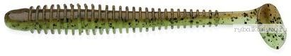 "Виброхвост Keitech Swing Impact 4,5"" 11,4 см / 8,9 гр / цвет - 401 Green Pumpkin / Chartreuse(упаковка 6 шт)"