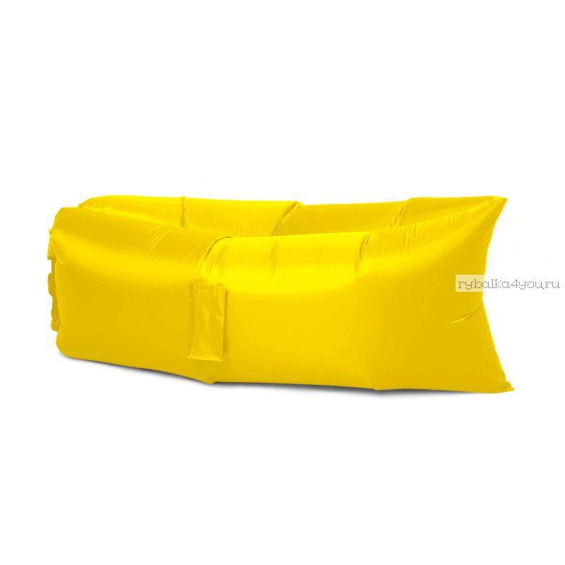 Надувной шезлонг - гамак Lamzac (желтый)
