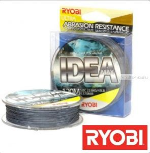 Леска плетеная Ryobi PE Idea 8x 120 м (серый)