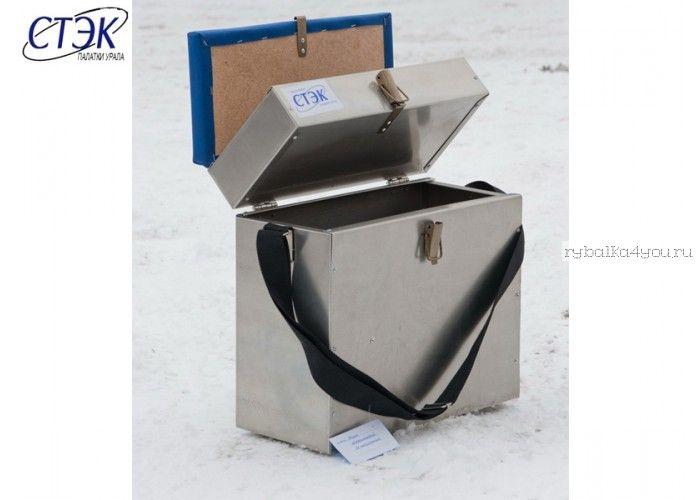 Ящик СТЭК алюминиевый 2 секции, 28л, 400х390х180 (1,0mm) (арт.07238)
