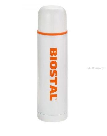 Термос BIOSTAL NB750C-W с двойной колбой цветной белый (узкое горло)0,75 л