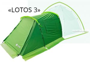 Палатка летняя ЛОТОС 3 Саммер спальная