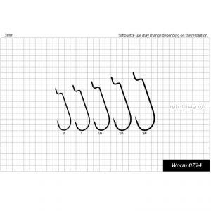 Крючок Sasame F- 950 Worm 0724 упаковка 6 шт
