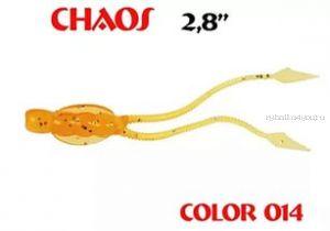 Мягкая приманка Aiko  Chaos 2.8 70мм / запах рыбы / цвет - 014-Crazy Orange (упаковка 8шт)