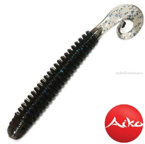 """Твистеры Aiko  Eel 3"""" 75 мм / 2,2 гр / запах рыбы / цвет:  008-N.Braun (упаковка 8 шт)"""