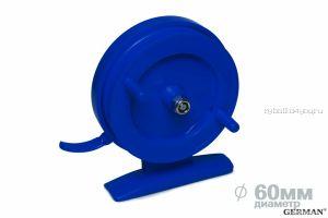 Зимняя катушка German инерционная 60 мм / Синий