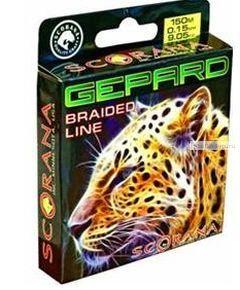 "Леска плетен. Scorana ""Gepard"" Green 150 м"
