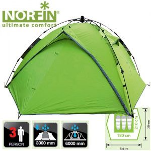Палатка автоматическая 3-х местная Norfin TENCH 3 NF-10402