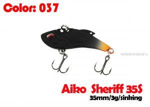 Воблер Aiko SHERIFF 35S  35 мм/ 3 гр / 0 - 0,5 м / цвет - 037