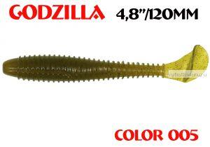 "Мягкая приманка Aiko  Godzilla 4.8"" 120мм / запах рыбы / цвет - 005  (упаковка 5шт)"
