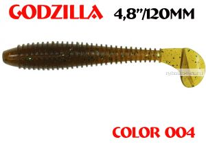 "Мягкая приманка Aiko  Godzilla 4.8"" 120мм / запах рыбы / цвет - 004  (упаковка 5шт)"