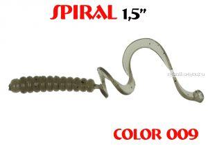 """Твистеры Aiko  Spiral 1.5"""" 25 мм / 0,62 гр / запах рыбы / цвет - 009 (упаковка 10 шт)"""