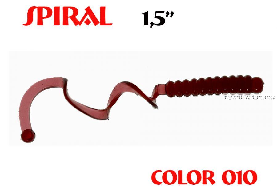 """Твистеры Aiko  Spiral 1.5"""" 25 мм / 0,62 гр / запах рыбы / цвет - 010 (упаковка 10 шт)"""