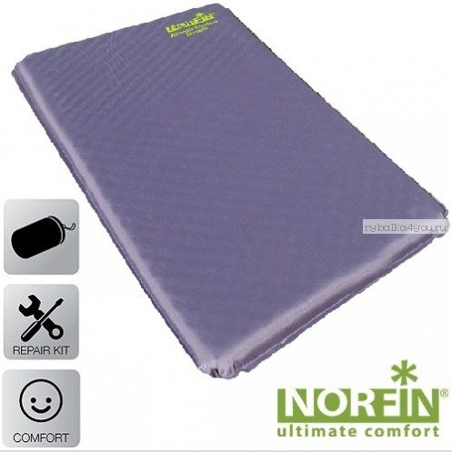 Коврик самонадувающийся Norfin ATLANTIC DOUBLE NF 5.0см / 193x126x5см (NF-30304)