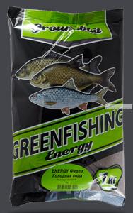 Прикормка Greenfishing ENERGY (Зима) фидер, холодная вода,1кг