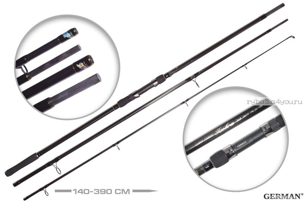 Купить Удилище карповое German Zebra IМ8 3,9 м / тест 3,5lbs