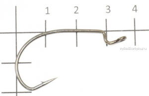Крючок офсетный Yoshi Onyx  Offset Hook Magna HD(BN), BIG EYE WITH SPRING, с пружинкой (упак. 5шт.)