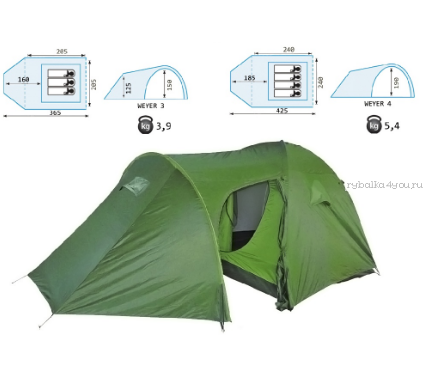 Палатка Reisen  Weyer 3 (woodland)