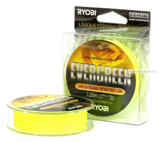 Купить Леска плетеная Ryobi PE Evergreen 8х 120 м