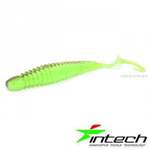 "Мягкая приманка Intech Turborib 4"" / упаковка 5шт / цвет: IN72/  10 см"