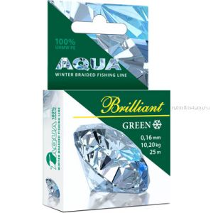Шнур плетеный Aqua Green Brilliant 25 м