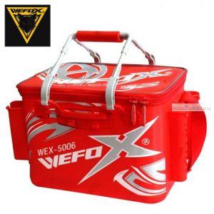 Сумка рыболовная Wefox EVA WEX 5006 / 40см с держателями для удилища, красно - белая